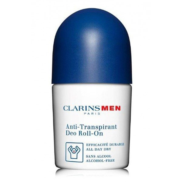 CLARINS MEN DEO EN ROLL ON ANTI TRANSPIRANTE SIN ALCOHOL 50 ML @