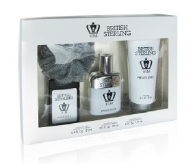SET BRITISH STERLING PRIVATE STOCK HIM EDT 74 ML + GEL DUCHA 177 ML + MINIATURA 12 ML + ESPONJA DUCHA