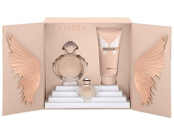 SET OLYMPEA EDP 50 ML + LECHE CORPORAL 100 ML + MINIATURA 6 ML REGULAR