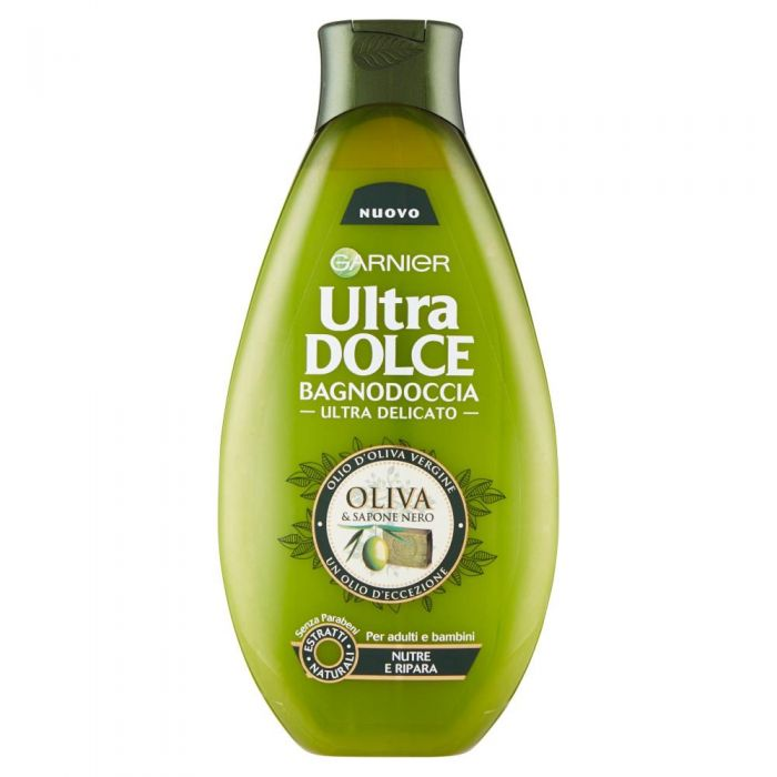 GARNIER GEL DUCHA ULTRA DELICADO OLIVA Y JABON NEGRO 500 ML REGULAR