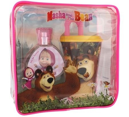 SET MASHA AND THE BEAR EDT 50 ML + VASO CON PAJITA + FIAMBRERA REGULAR