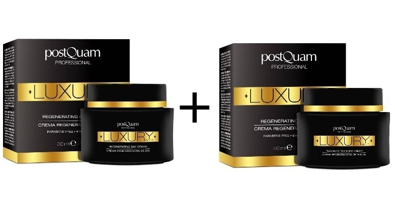 POSTQUAM LUXURY GOLD CREMA REGENERADORA DE DIA 50 ML REGULAR + POSTQUAM LUXURY GOLD CREMA REGENERADORA DE NOCHE 50 ML REGULAR