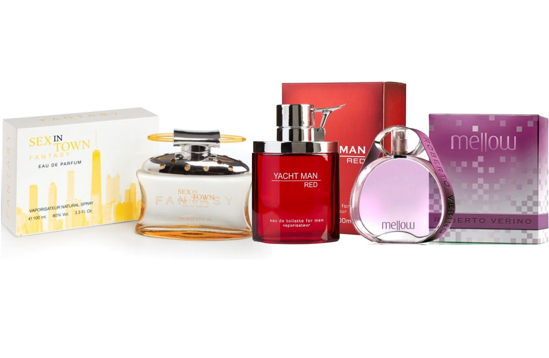 YACHTMAN RED MEN EDT 100 ML REGULAR + ROBERTO VERINO MELLOW EDT 90 ML @ + SEX IN TOWN FANTASY EDP 100 ML REGULAR