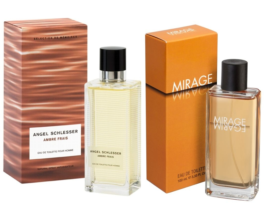 PACK ANGEL SCHLESSER AMBRE FRAIS  HOMME EDT100 ML @ + CONCEPT V MIRAGE EDT 100 ML REGULAR