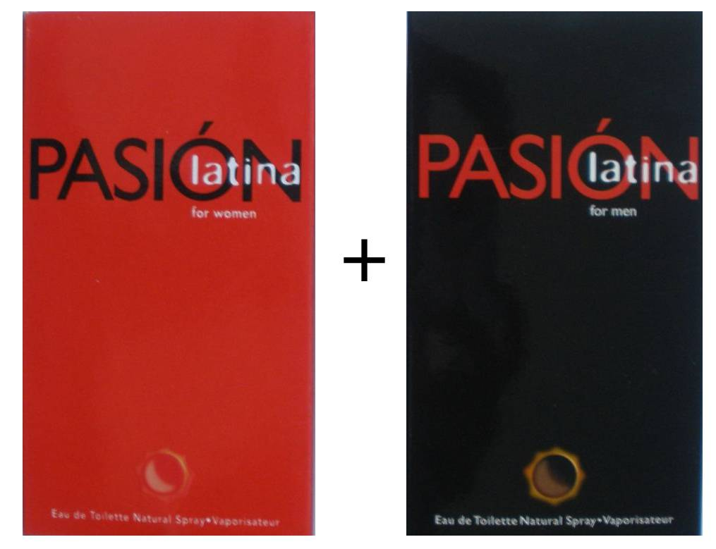PASION LATINA FOR WOMEN EDT 100 ML REGULAR + PASION LATINA FOR MEN EDT 100 ML REGULAR