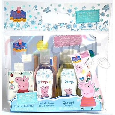 SET PEPPA PIG TRAVEL 7 ML + GEL DUCHA + CHAMPU REGULAR