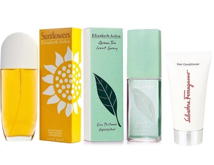 PACK SUNFLOWERS EDT 100ML @ + GREEN TEA EDP 100 ML @ + ACONDICIONADOR PELO SALVATORE FERRAGAMO 50 ML DE REGALO