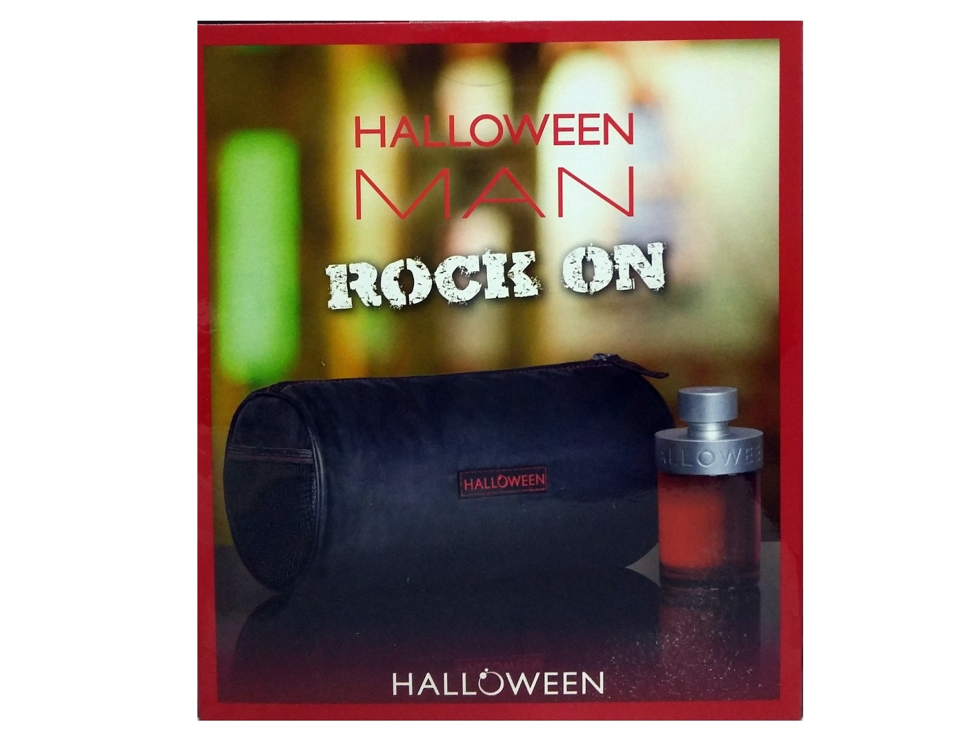 SET HALLOWEEN ROCK ON MEN EDT 125 ML REGULAR + NECESER URBAN