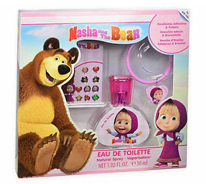 SET MASHA AND THE BEAR EDT 30 ML + BRAZALETE + PEGATINA REGULAR
