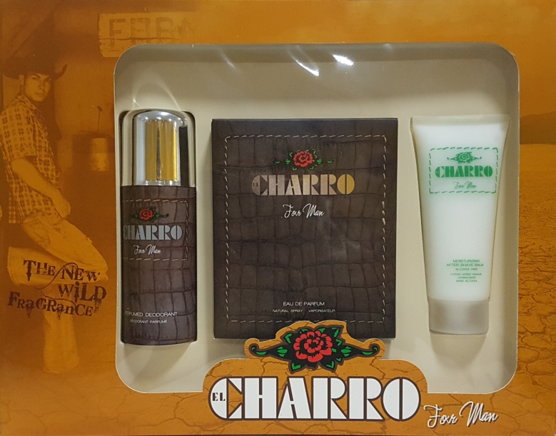 SET CHARRO MAN EDP 100 ML REGULAR + DESODORANTE SPRAY + AFTER SHAVE BALSAMO