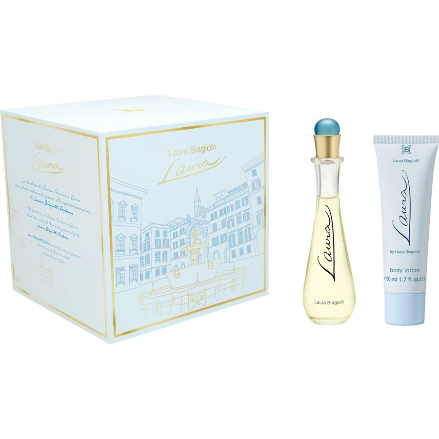 SET LAURA EDT 25ML + BOY LOCION 50 ML REGULAR (Caja bastante chafada)