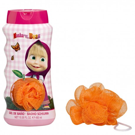 SET MASHA AND THE BEAR GEL DUCHA 450 ML + ESPONJA REGULAR