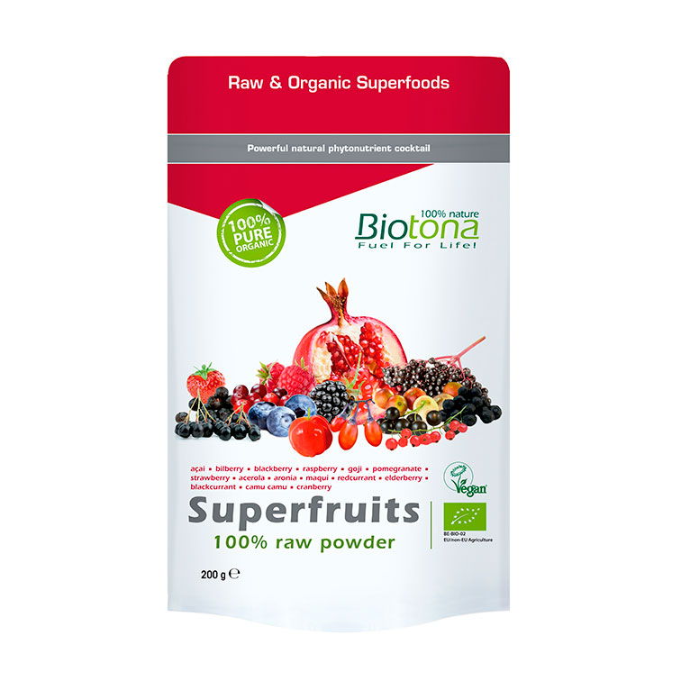 BIOTONA SUPEFRUIT POWDER (FRUTAS ROJAS POLVO) 200 GRAMOS REGULAR