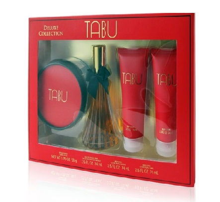 SET TABU DELUXE COLLECTION EDC 74 ML + BODY LOCION 74 ML + LOCION DUCHA 74 ML + TALCO ESPOLVOREAR REGULAR